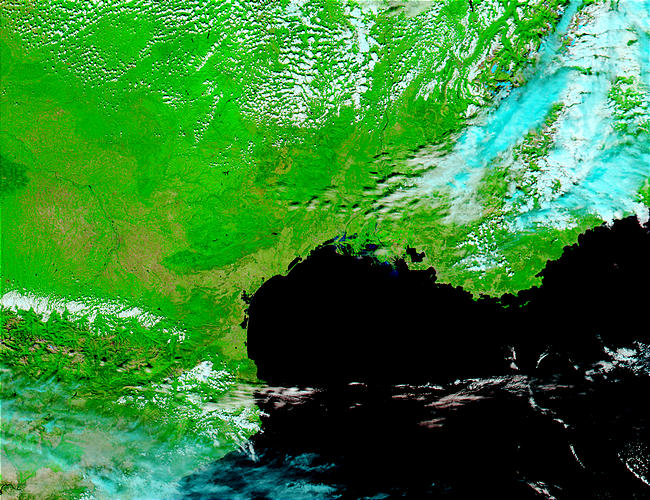 Floods in Southern France (false color) - related image preview