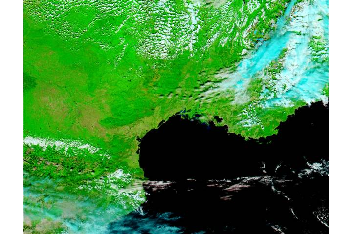 Floods in Southern France (false color) - selected image