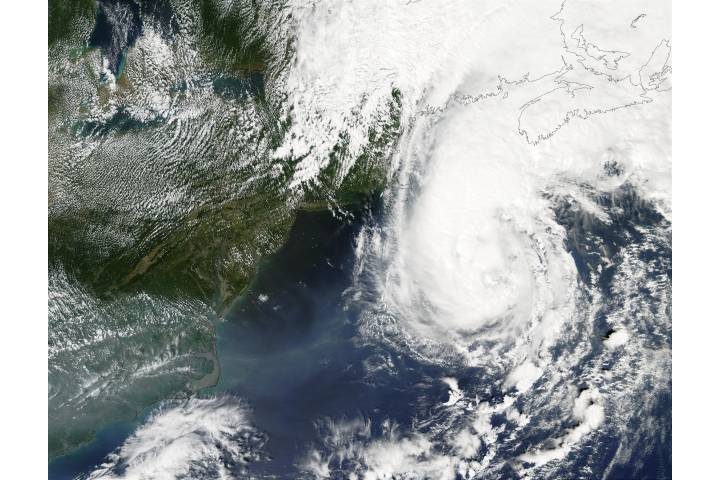 Hurricane Gustav off New England - selected image