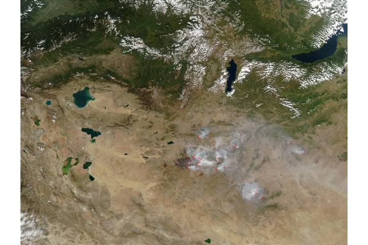 Fires in Mongolia - selected image