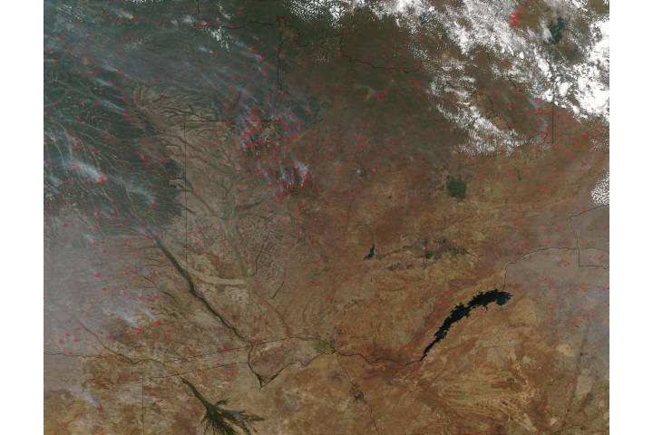 Fires in Zambia and Angola - selected image