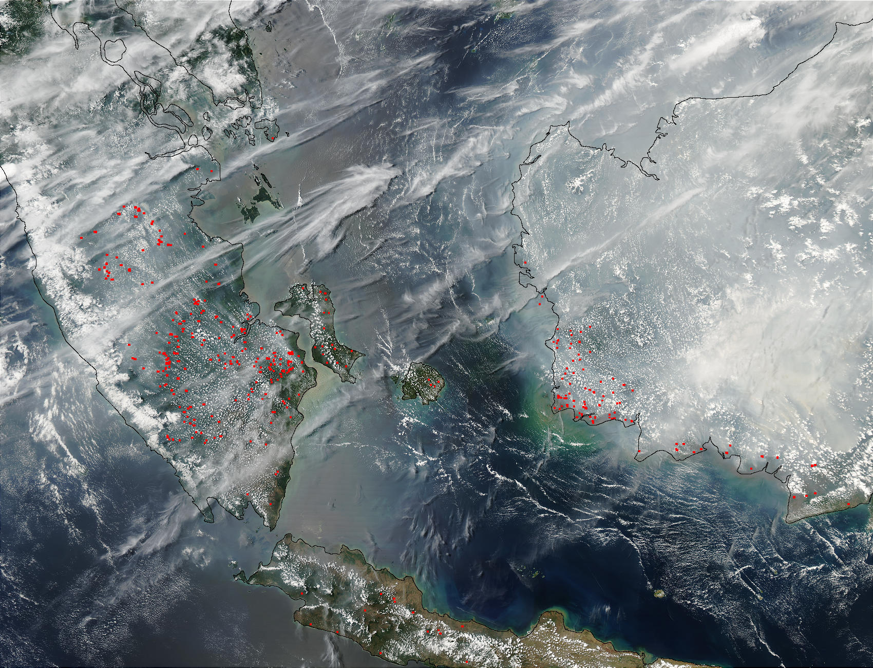 Fires and smoke in Malaysia and Borneo - related image preview