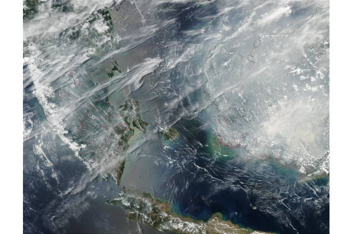 Fires and smoke in Malaysia and Borneo - selected image