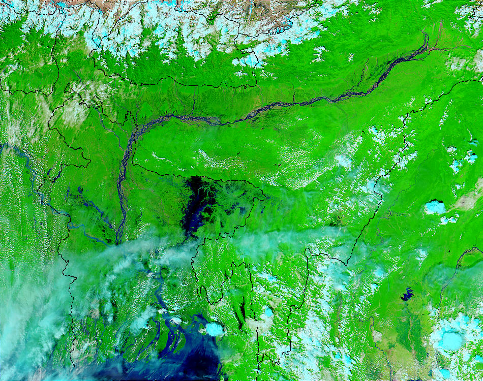 Floods in Bangladesh (false color) - related image preview