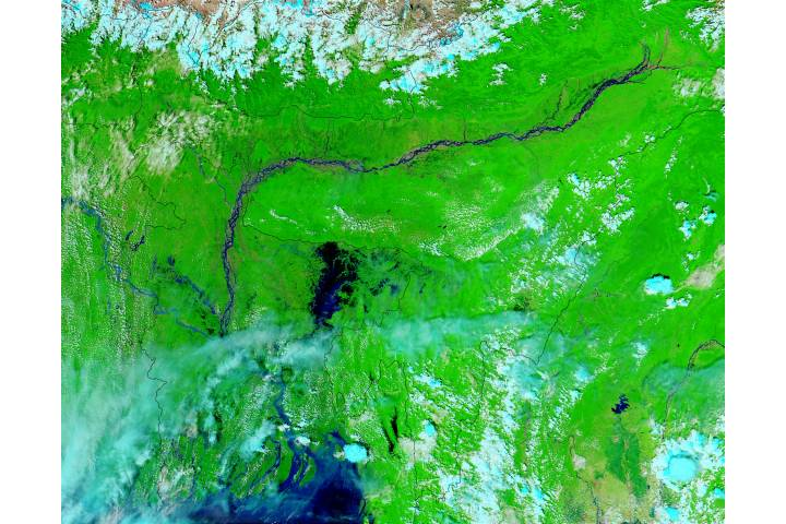 Floods in Bangladesh (false color) - selected image