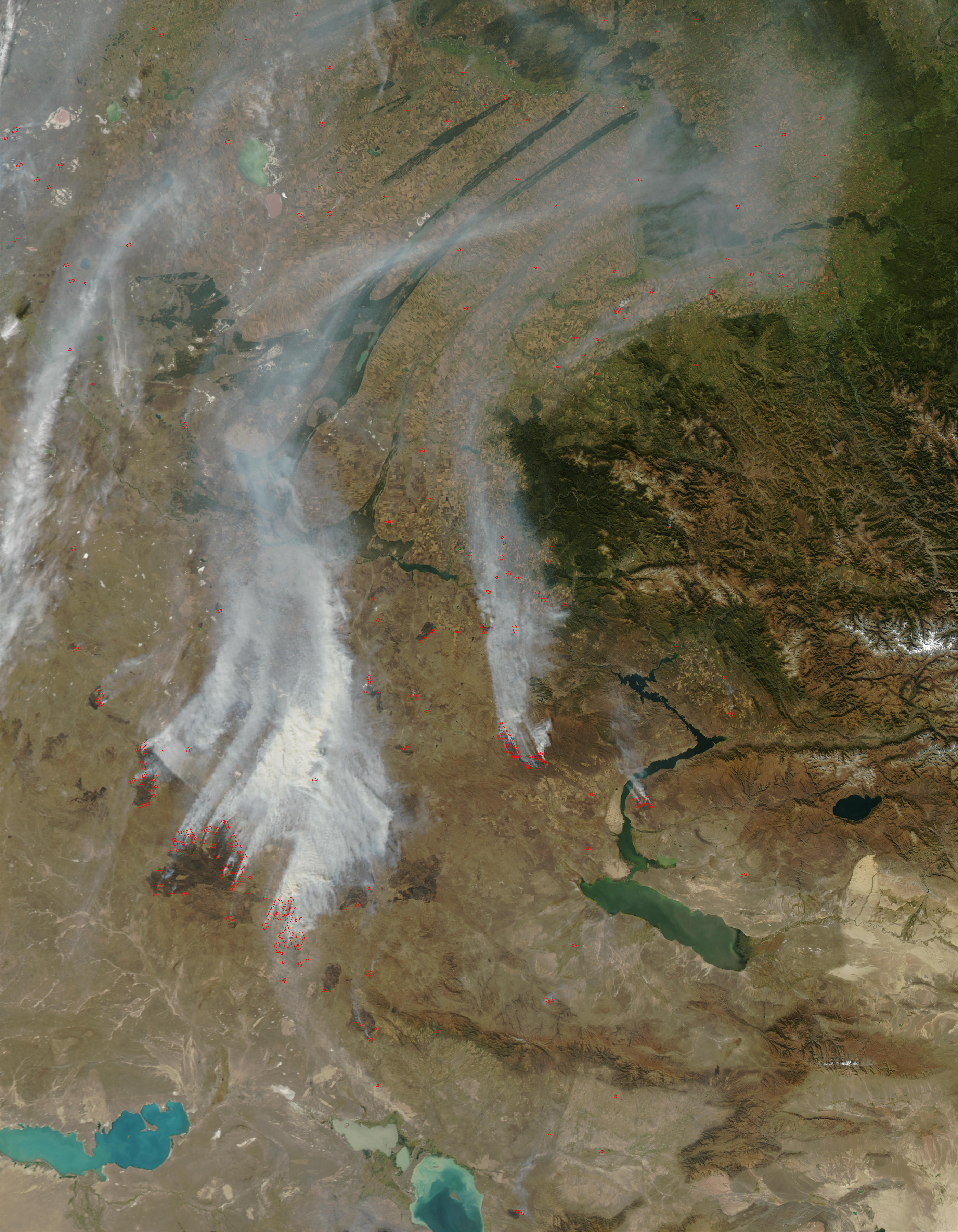 Fires and smoke in Kazakhstan - related image preview