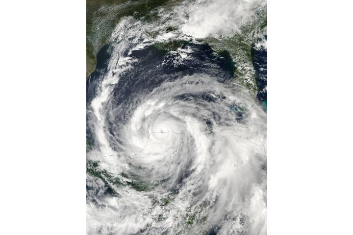 Hurricane Isidore over Yucatan Peninsula - selected image