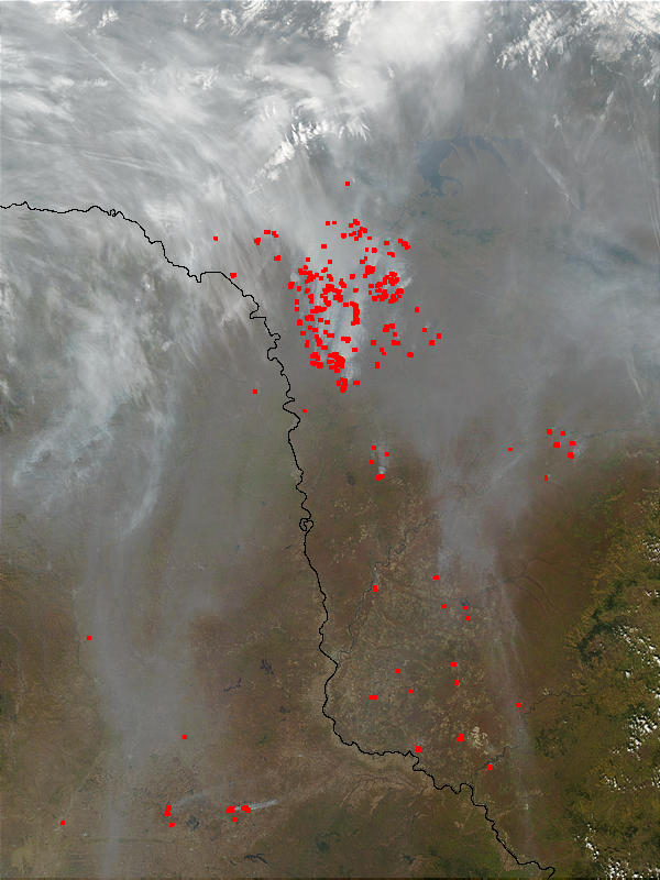 Fires and smoke in the Amur Region, Eastern Russia - related image preview