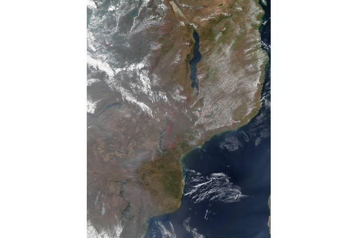 Fires in East Central Africa - selected image