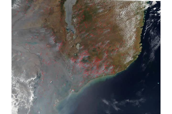 Fires in Mozambique - selected image