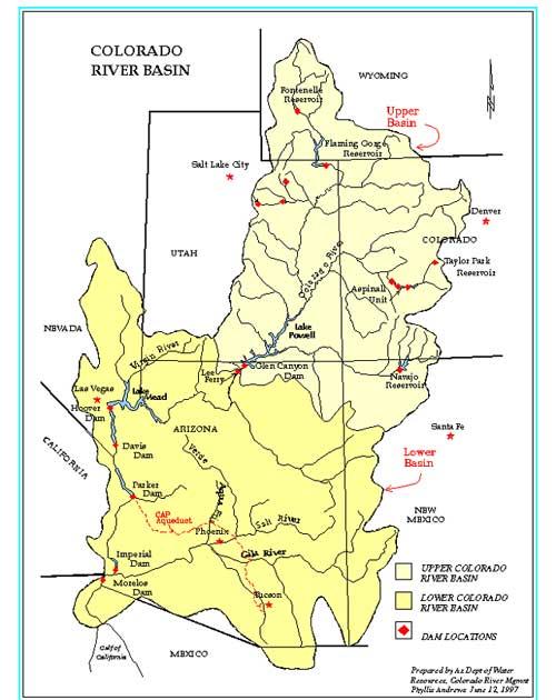 Map Of Colorado River Basin
